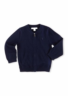 Burberry Jaxson Zip-Front Cotton Cardigan