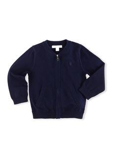 Burberry Jaxson Zip-Front Cotton Cardigan  Navy  Size 6M-3