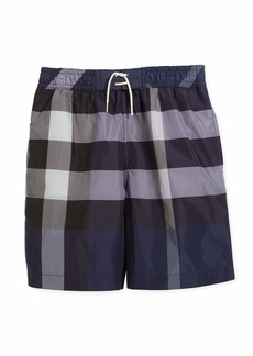 Burberry Jeffries Check Swim Trunks