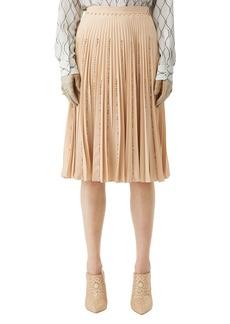 Burberry Jewel-Embellished Pleated Skirt