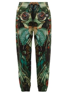 Burberry Kayton submarine-print cotton track pants