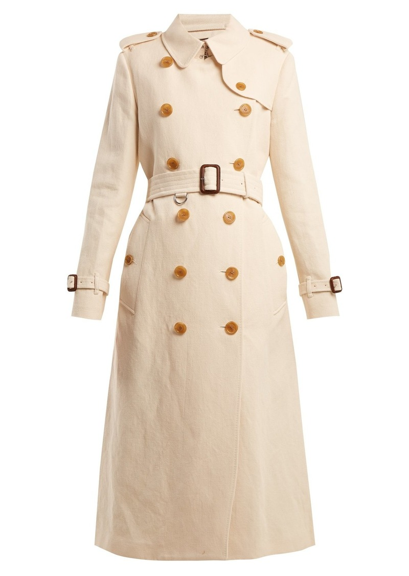 b0b6c5acaed80b On Sale today! Burberry Burberry Kelvedon belted cotton and linen ...