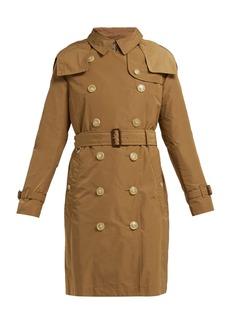Burberry Kensington hooded taffeta trench coat