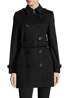 Burberry Kensington Wool & Cashmere Double-Breasted Trench Coat