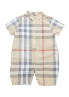 Burberry Kirk Infant Boys' Short-Sleeve Check Playsuit