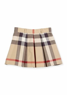 Burberry Kittie Classic Check Pleated Skirt