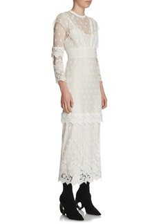 Burberry Lace Overlay Dress