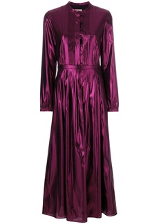 Burberry lamé pleated dress - Pink & Purple