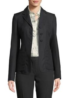 Burberry Landow Twill Three-Button Jacket