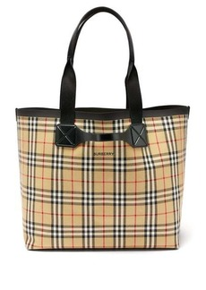 Burberry Large Vintage-check cotton-canvas tote bag