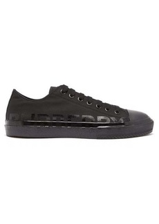 Burberry Larkhall canvas trainers