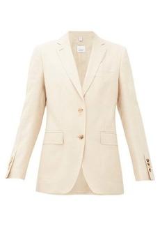 Burberry Layered-effect wool-blend blazer