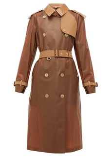 Burberry Leather-trimmed PU trench