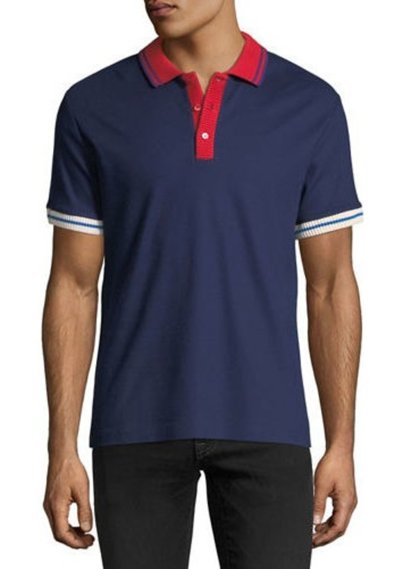 28624dbf Burberry Lenford Contrast-Trim Polo Shirt | Casual Shirts