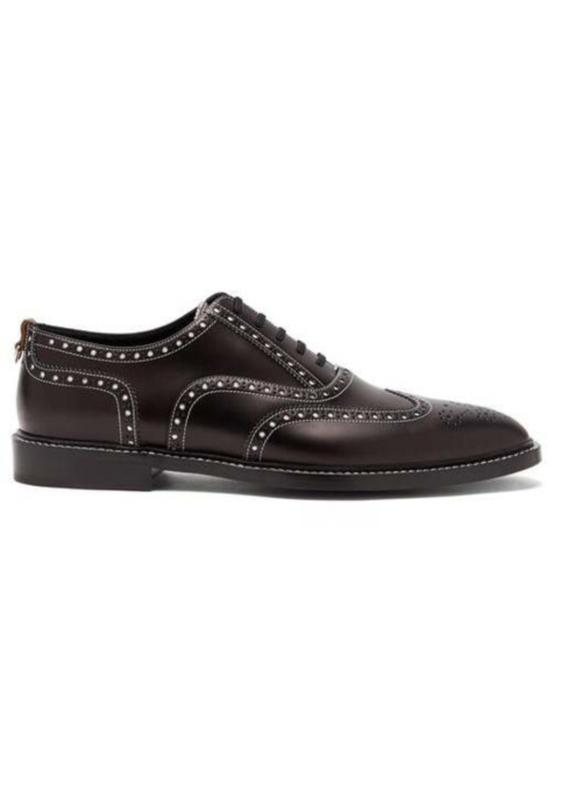 Burberry Lennard perforated leather brogues