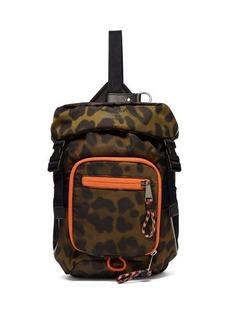 Burberry Leopard-print mini cross-body backpack