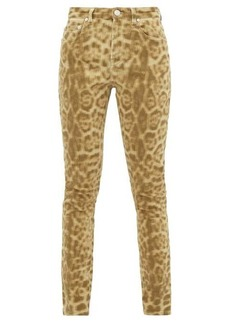 Burberry Leopard-print stretch-denim skinny jeans