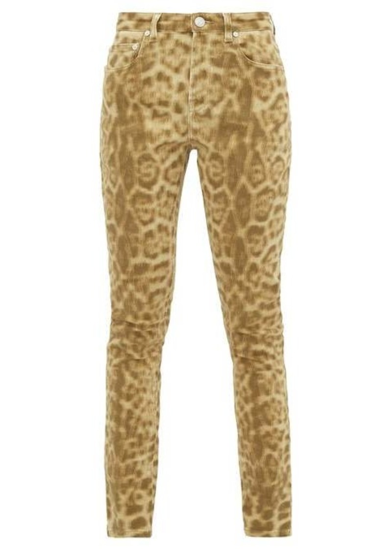 Burberry Leopard-print stretch-denim skinny jeans
