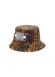 Burberry Leopard-print technical bucket hat