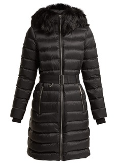 Burberry Limefield quilted down-filled belted coat