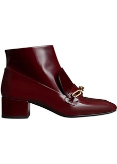 Burberry Link buckle ankle boots - Red