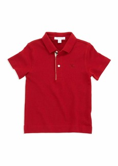 Burberry Linter Check-Trim Polo