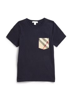 Burberry Little Boy's & Boy's Check Pocket Tee