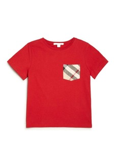 Burberry Little Boy's Check Pocket Tee