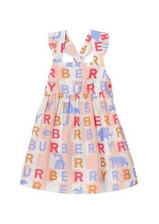 Burberry Livia Logo Print Dress  Size 6M-2