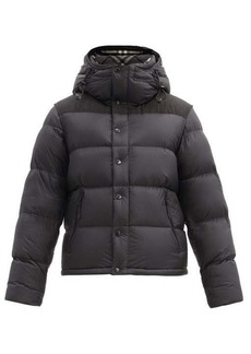 Burberry Lockwell logo-patch removable-sleeve quilted coat