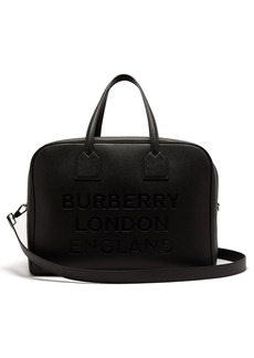 Burberry Logo-debossed grained-leather bag