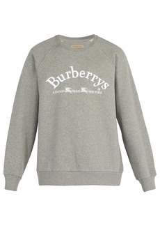 Burberry Logo-embroidered cotton-blend sweatshirt