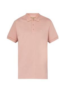 Burberry Logo-embroidered cotton-pliqué polo shirt