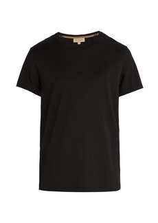 Burberry Logo-embroidered cotton T-shirt