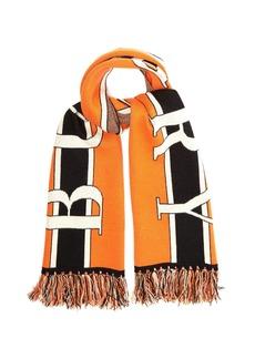 Burberry Logo-jacquard cashmere scarf
