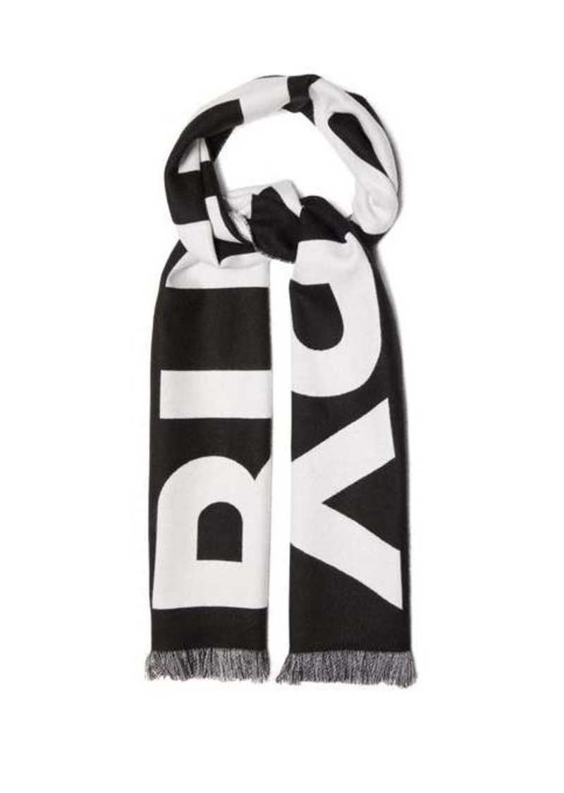 Burberry Logo-jacquard wool scarf
