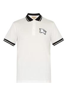 Burberry Logo-patch cotton-piqué polo T-shirt