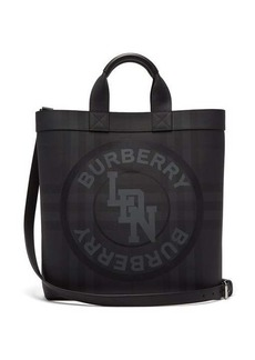 Burberry Logo-print coated-canvas tote bag