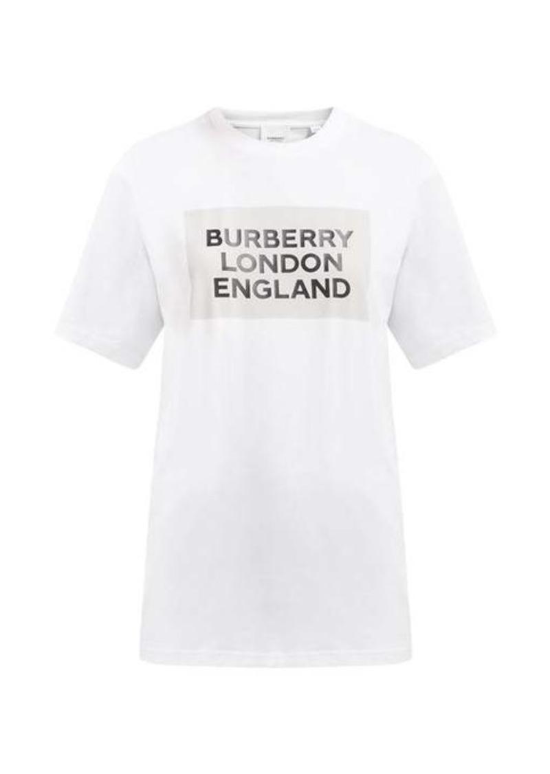Burberry Logo-print cotton-blend T-shirt