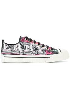 Burberry logo scribble sneakers - Black