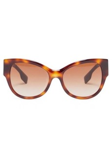 Burberry Logo tortoiseshell acetate sunglasses
