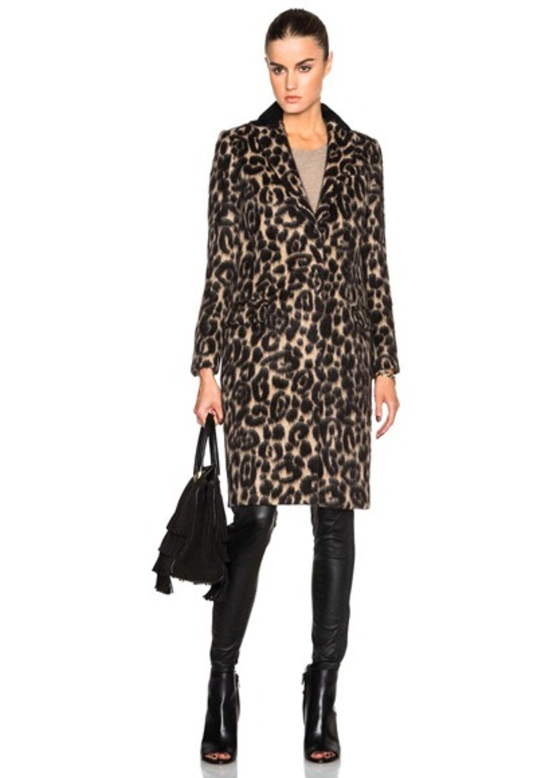 Burberry London Croasdale Leopard Slim Coat