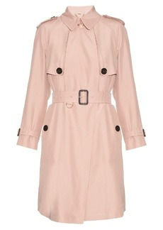 Burberry London Everson silk-noil trench coat
