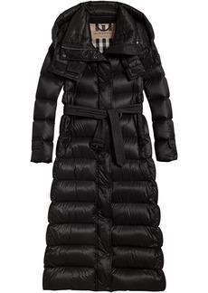 Burberry long puffer coat - Black