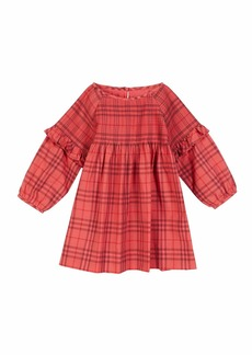 Burberry Loralie Long-Sleeve Dyed Check Dress  Size 6M-2
