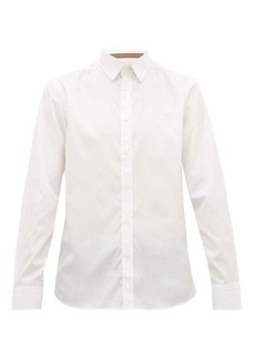 Burberry Louis logo-embroidered cotton-blend shirt