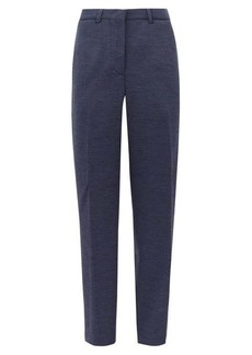 Burberry Lucy high-rise wool-blend straight-leg trousers