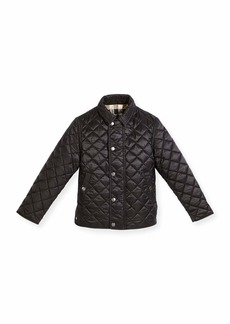 Burberry Luke Quilted Snap-Front Jacket