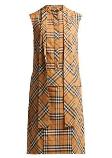 Burberry Luna House-check sleeveless cotton dress