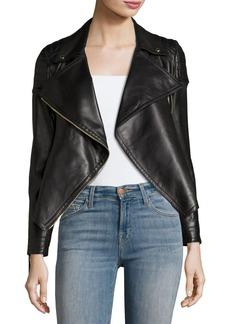 970618c504c69 Burberry Lydbry Leather Biker Jacket Black